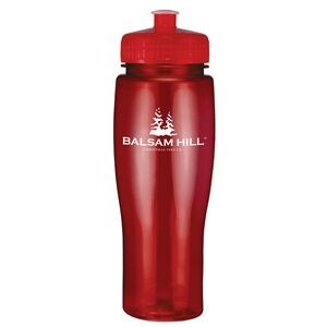 24 Oz. Translucent Contour Bottle w/ Push Pull Lid