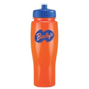 24 Oz Contour Bottle w/ Push Pull Lid - Solid Colors